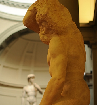 David-and-Slave-by-Michelangelo-at-Accademia-in-Florence
