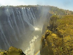 Vic Falls, one of the seven natural wonders of the world