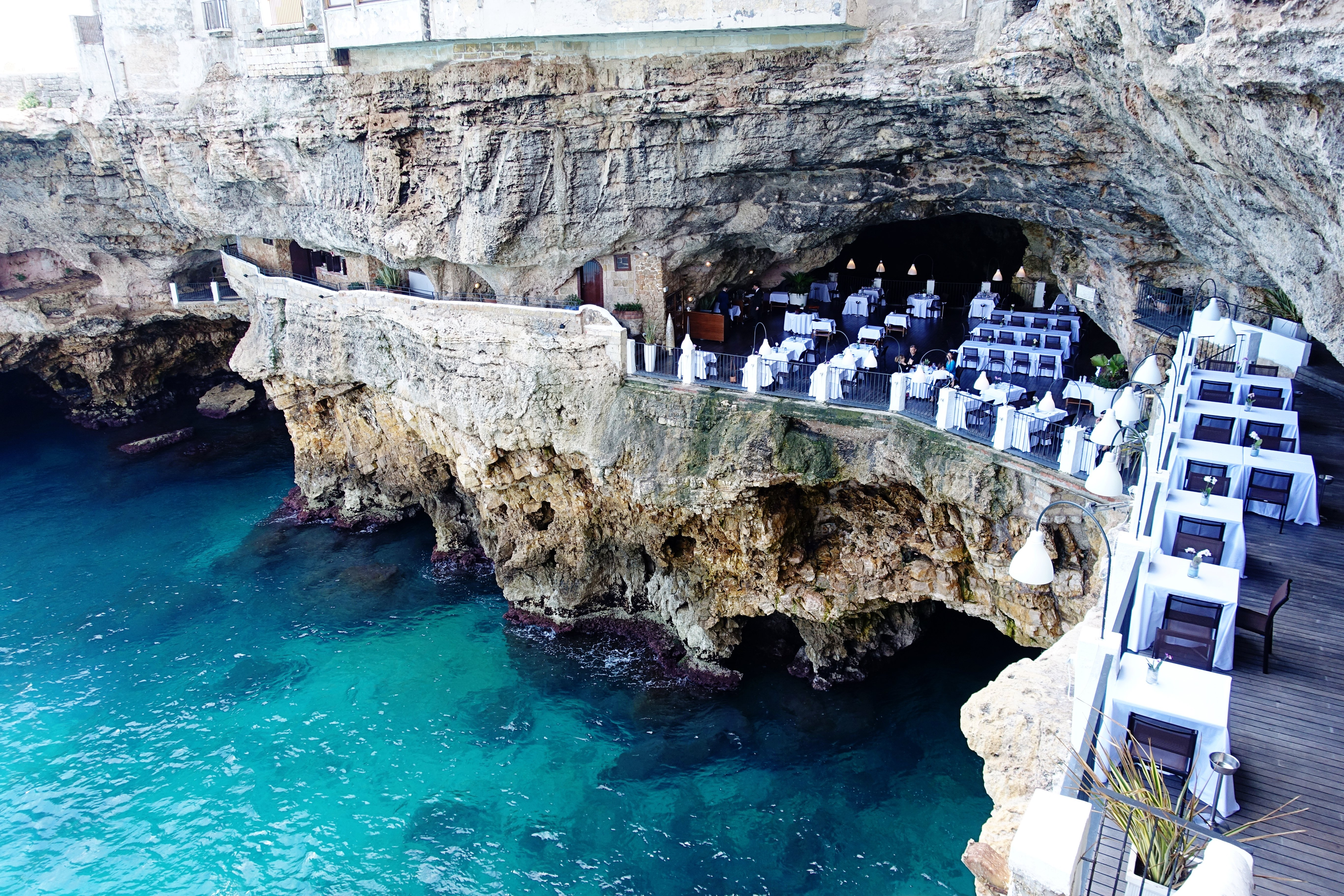 The Much Larger Bottom Floor Is Where You Enter And Main Of Cave Ristorante Grotta Palazzese