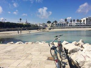 Beach cruisers on the Adriatic in Otranto Puglia