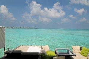 Over water Six Sense Laamu Maldives
